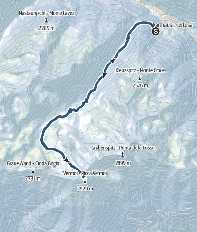 Cartina / Sci alpinismo alla Punta Vermoi