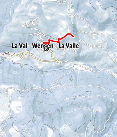 Cartina / Escursione invernale da La Val alla chiesa S. Berbura/S. Barbara