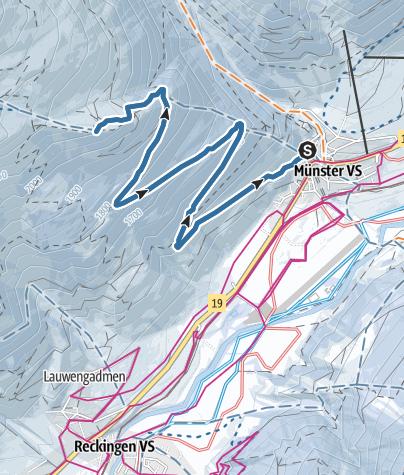 Map / Galmihornhütte-Trail