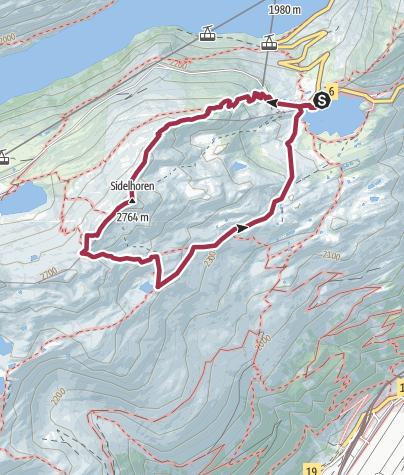 Karte / Rundwanderung Sidelhorn