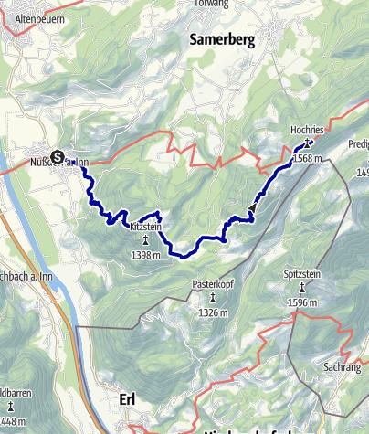 Karte / SalzAlpenTour - Chiemsee-Alpenland Etappe 2 (anspruchsvoll)