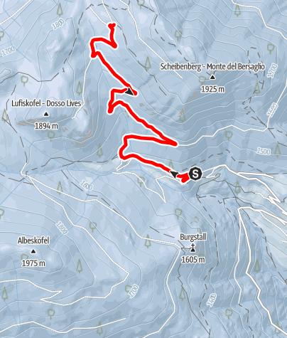 Kaart / Rodelbahn Spiluck