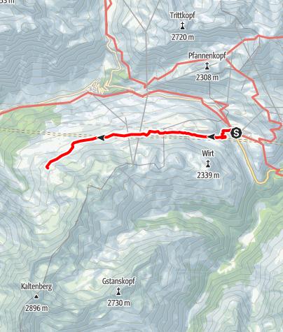 Karte / Von St. Christoph auf die Kaltenberghütte