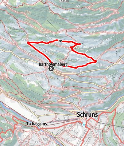 Karte / Kinderwanderweg Bartholomäberg