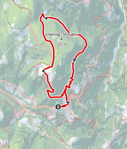 Mappa / Sentiero Avigna Dosso Nero