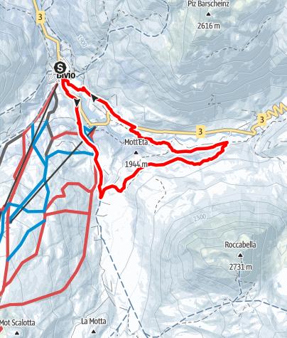 Karte / Winterwanderung Val Tgavretga