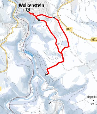 Karte / Winterwandern - Panorama-Route