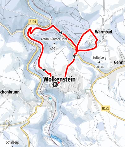 Karte / Winterwandern - Wolkensteiner Schweiz