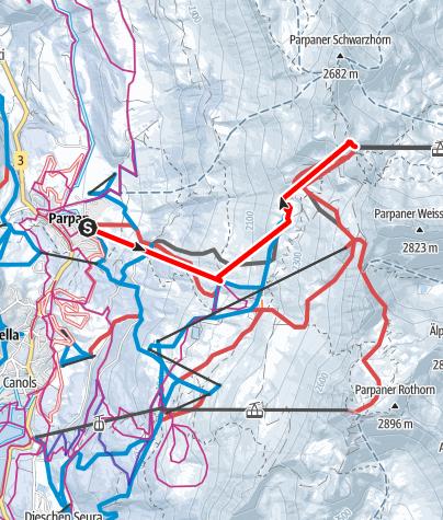 Map / Heidi & Gigi Trail in Lenzerheide