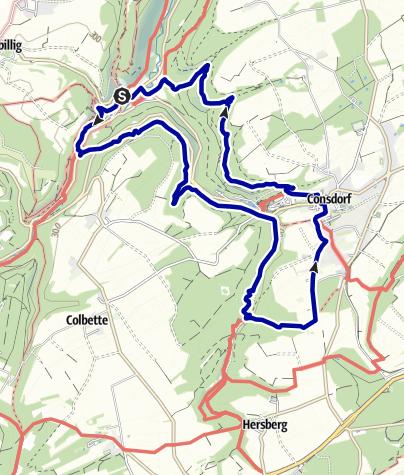 Karte / Mullerthal – Felsen, Bäche, Wasserfall