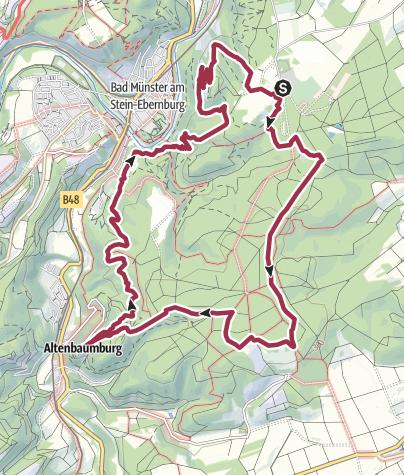 Karte / 3x3 Salinental: Vitaltour Rheingrafenstein