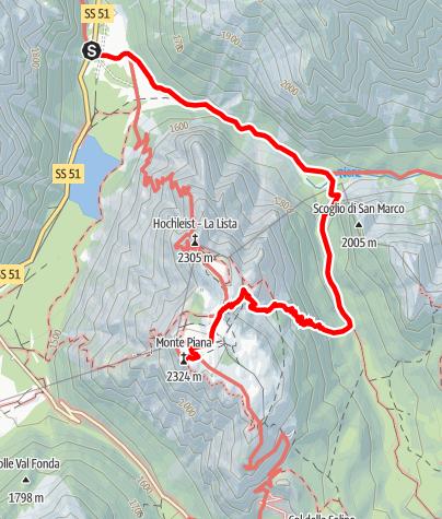 Mapa / Sommerwanderung: Drei-Zinnen-Blick - Monte Piano