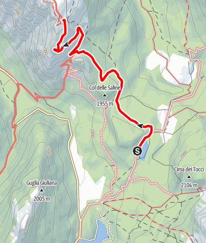 Map / Summer hiking tour: Lake Antorno (Misurina) - Monte Piano