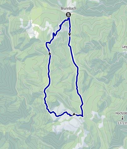 Karte / Anlaufalm ab Brunnbach, Rundwanderung