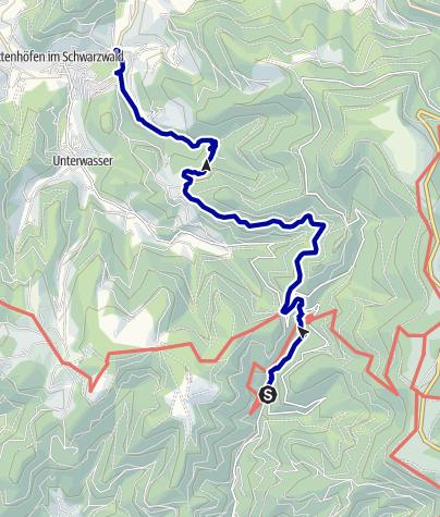 Karte / Von Wasserfall zu Wasserfall