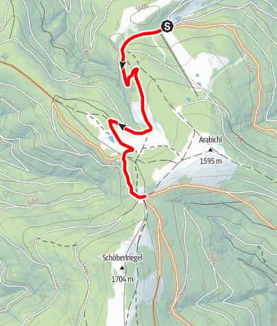 Mapa / 11 Bärenlacke Route