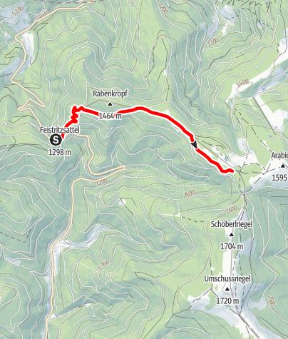 Mapa / 21 Rabenkropf Route
