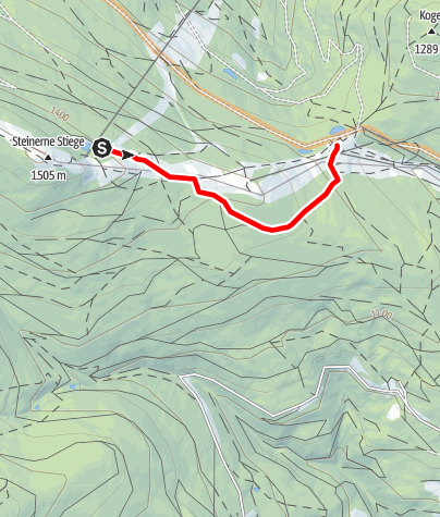 Map / 15a Haller Route bergab