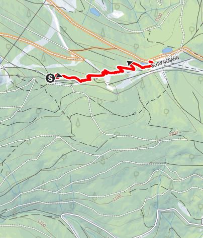 Mapa / 15a Haller Route bergab