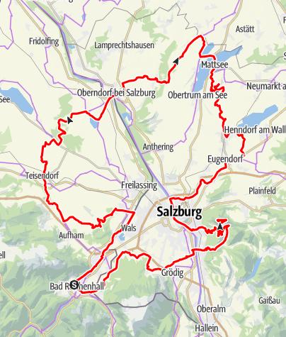 Karte / SLOW BIKE - Berge Bewegt Genießen - Gesamtverlauf