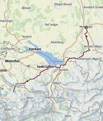 Karte / Tourenplanung für Mai 2018