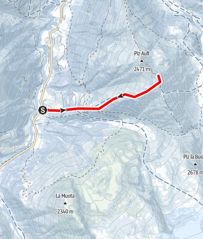 Map / Piz Ault, im Val Medel