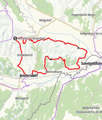 Karte / Loipersdorf/B71 Thermen-Radweg/Region Jennersdorf