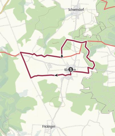 Karte / Auf dem Kohleckweg rund um das Härtsfelddorf Kösingen bei Neresheim