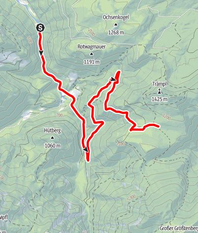Karte / Schaumbergalm ab Bodinggraben, Radtour