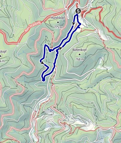 Karte / Allerheiligen Rundwanderung Wasserfall