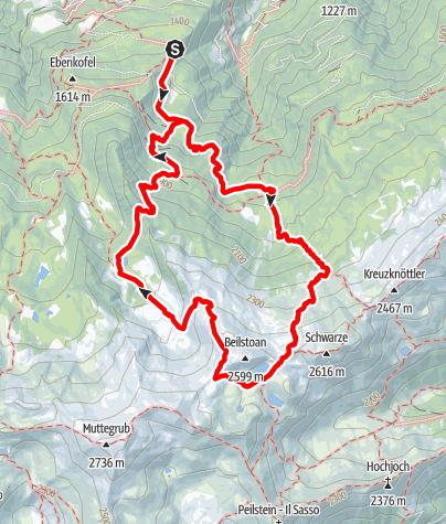 Map / Plomboden lakes circular h ike