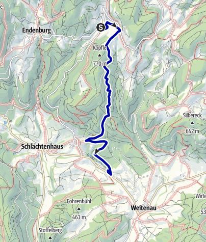 Karte / Kirchhausen-Hotel Landmann- Weitenau Vogelpark