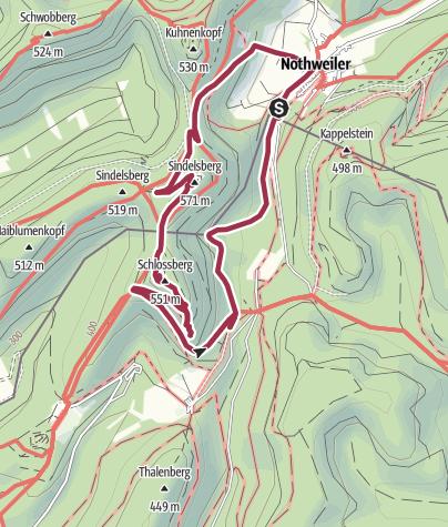 Karte / Nothweiler - Wegelnburg-Krappenfels-Nothweiler
