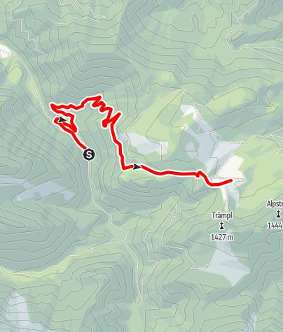 Karte / Ebenforstalm ab Bodinggraben , Radtour
