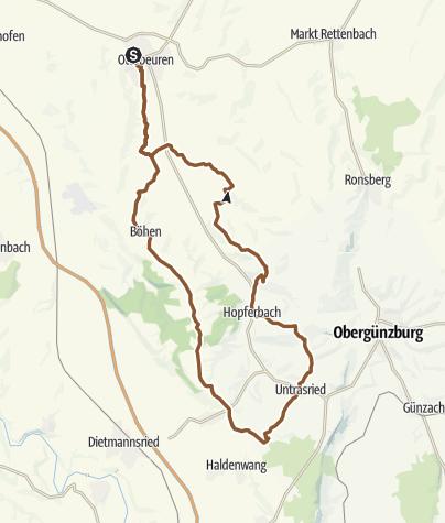 Karte / Ottobeuren Südschleife