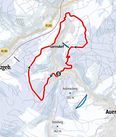 Karte / Winterwandern - Rund um Gornsdorf (große Runde)