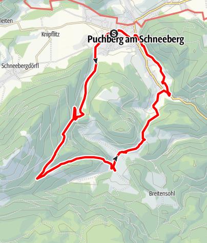 Mapa / Rohrbach im Graben - Puchberg am Schneeberg