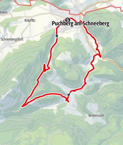 Karte / Rohrbach im Graben - Puchberg am Schneeberg