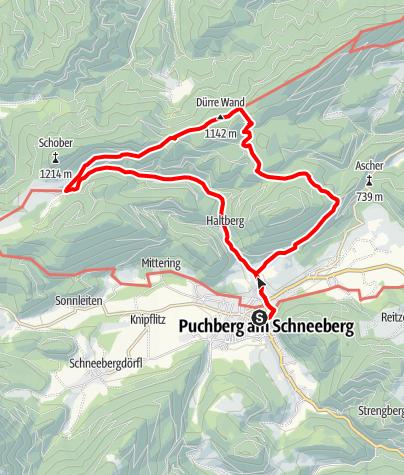 Karte / Kaiserebenwiese Puchberg am Schneeberg