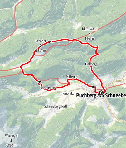 Karte / Schoberwände Puchberg am Schneeberg
