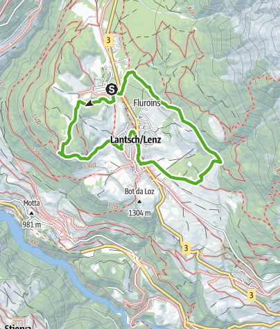 Kaart / Naturlehrpfad Lantsch/Lenz