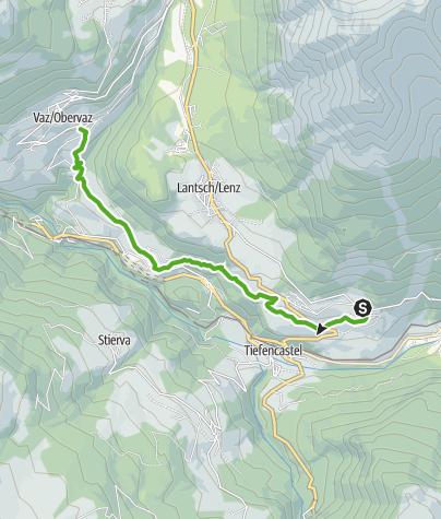 Karte / Auf den Spuren der Freiherren von Vaz