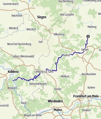 Karte / Kanu-Fluss Lahn