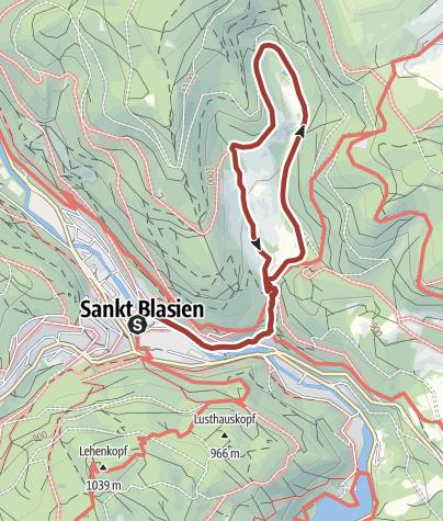 Karte / Höhenklimaweg St. Blasien Windbergpfad