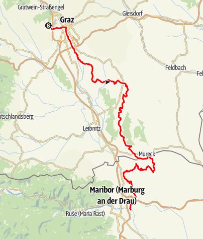 Karte / Grazer Jakobsweg