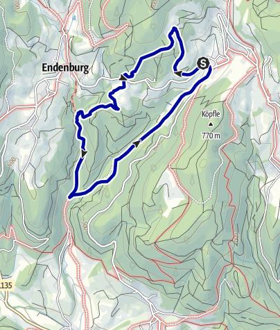Karte / Kirchhausen - Wassertretstelle - Waldspielplatz-Höllschlucht-Landmann