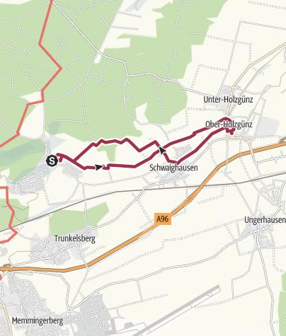 Karte / Eisenburg-Holzgünz/Schloßschänke