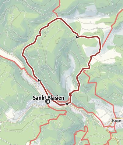 Karte / Höhenklimaweg St. Blasien Bötzbergsteig