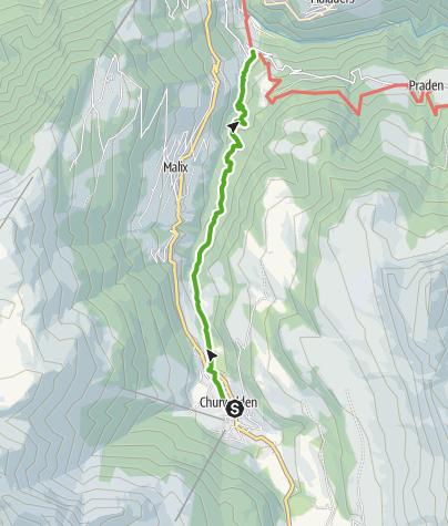 Kaart / Über den Polenweg nach Passugg