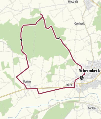 Karte / Dämmerwald / Damm 22 km
